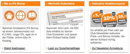 Vorteile der Club-Card: Exklusive Gutscheine