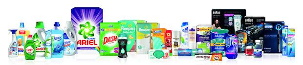 Ein Teil der Produkte - Quelle: www.pg.com