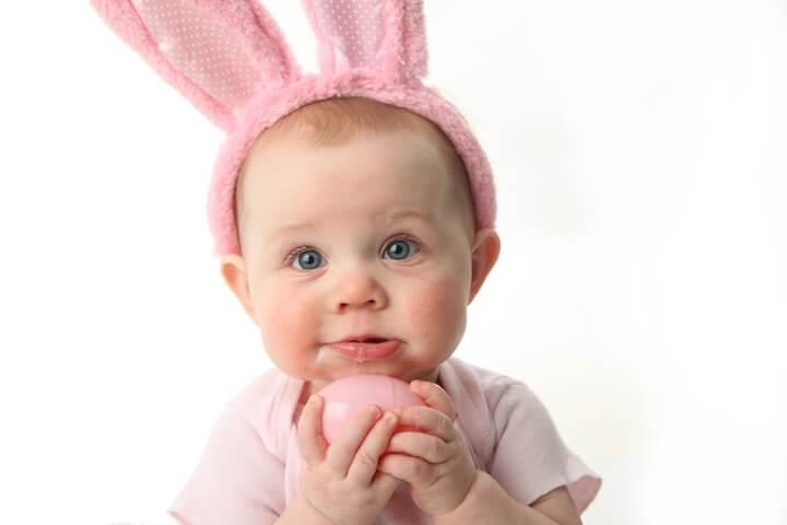 Der Osterhase, auch für Babys und Kleinkinder wichtig   © panthermedia.net / Tera Christianson
