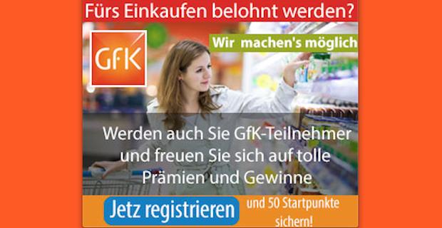 Fürs Einkaufen belohnt werden? – Berichtet über Babyprodukte und erhaltet tolle Prämien mit GfK
